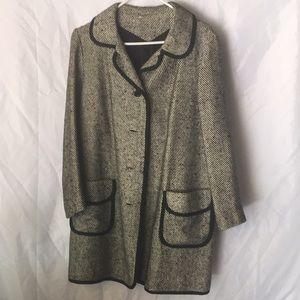 Stylish vintage tweed coat